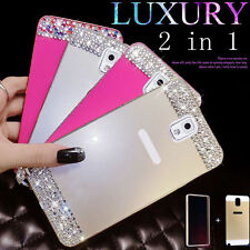Bling crystal Metal Bumper Frame Case Back Cover For Galaxy phones & track NO