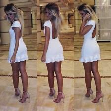 Women Summer Casual Sexy Backless String Of Beads Vestidos De Fiesta Mini Dress