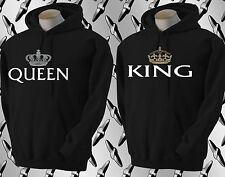 King AND  Queen couple matching Hoodie Black