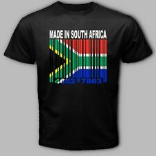 MADE IN SOUTH AFRICA  Johannesburg African Barcode Flag T-shirt  AF3 *ALL SIZES*