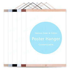 Magnet Poster Hanger Black White Gold Silver A4 Prints DIY Paintings Wood Frames