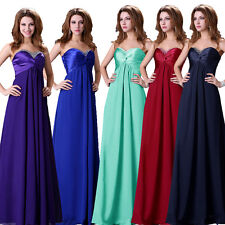 CHEAP Maternity Long Chiffon Evening Party Formal Gown Bridesmaid Prom Dress NEW