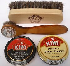 KIWI BLACK NEUTRAL  SHOE POLISH CREAM KIWI SHINE BRUSH & DAUBER, SELECT: Items