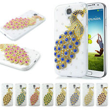 3D Bling Crystal Diamond Peacock Case Cover For LG Nokia Cell Phones