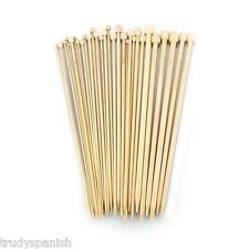Bamboo Knitting Needles Single Pointed 23cm or 34cm length 1 Pair
