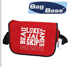 JANOSKIANS NAME MESENGER BAG CHOICE OF ALL COLOURS GREAT FOR SCHOOL