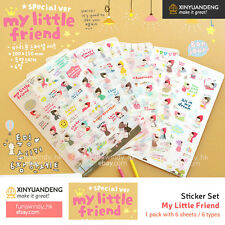 My Little Friend Diary Planner Scrapbooking Decoration Stickers (2 Types)