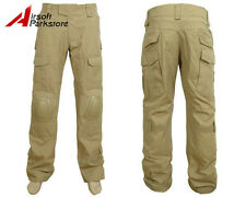 Tactical Military BDU Pants Army Combat Trousers with Knee Pads Coyote Brown