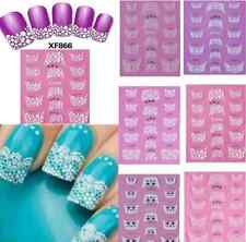 3D Transfer Lace Design Nail Art Stickers Manicure Nail Polish Decals Tips one