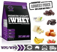 8KG -  WHEY PROTEIN ISOLATE / CONCENTRATE - BANANA -  WPI WPC POWDER