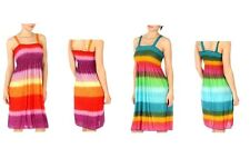 Women's Sundress Multi-Color Print Summer Knee Length, Assorted Colors and Sizes