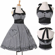 VINTAGE STYLE HOUSEWIFE 1950's DRESSES ROCKABILLY PINUP SWING EVENING PROM DRESS