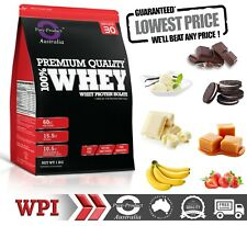 2KG WHEY PROTEIN ISOLATE POWDER  WPI  100% PURE STRAWBERRY