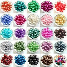Free Shipping 100pcs Top Quality Czech Glass Pearl Round Loose Beads Lot 8mm