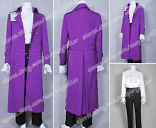 Purple Rain Prince Cosplay Rogers Nelson Costume Dark Purple Cool Trench Coat
