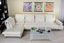 Quilted Embroidery Sectional Sofa Couch Slip Furniture Protector Cover Repellant