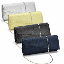 Ladies Glitter Shimmer Bling Handbag Evening Party Prom Clutch Bag Purse Wallet