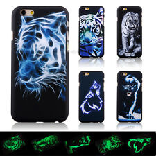Luminous Glow Animal Tiger Hard Back Skin Cover Case For Apple iPhone 6 / 6 Plus