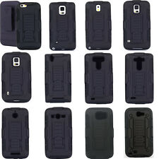 Rubber Rugge Armor Belt Holster Hybrid Holder Hard Clip Case Cover For Cellphone