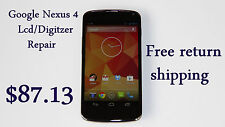 LG Google Nexus 4 screen/lcd mail in repair and replacement service. Free Ship