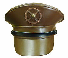 Steampunk SDL brown military hat with copper cog detail