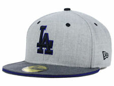 Official MLB Los Angeles Dodgers New Era 59FIFTY Fitted Hat Heather Shadow