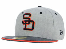 Official MLB San Diego Padres New Era 59FIFTY Fitted Hat Heather Shadow