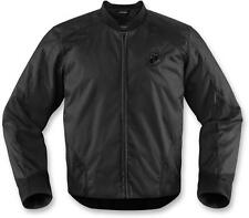 Icon Overlord Mens Textile Motorcycle Riding Jacket Stealth Black