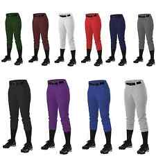 Alleson Athletic 605PBW Women's Fast pitch Softball Pants with Belt Loops