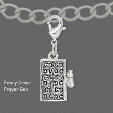 Prayer,Wish,Spell Boxes Silver or Gold Plated-Cross,Heart,Cancer Ribbon,Angels