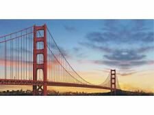 Outdoor Cheap Famous Bridge Nature Scene Banner Church Painting Banner Flags