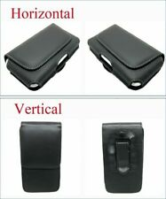 """Compact Leather Belt Clip Loop Holster Case Magnetic Flip Pouch Cover SKin 3.5"""""""