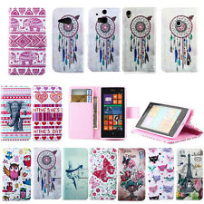 Painted Magnetic Flip Wallet Case Cover For HTC ONE M8 M9/Nokia / Motorola