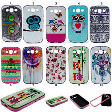 Stylish Printed Paint Rubber TPU + PC Hybrid Case Cove For Samsung Galaxy iPhone
