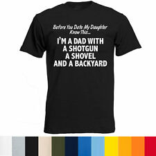 Before You Date My Daughter T Shirt Funny Dad Humor Tee Fathers Day Daddy Gift