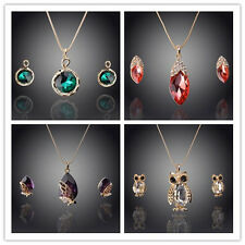 Women 18K Gold Plated Austrian Crystal Snake Owl Peach Jewelry Sets 16 Styles