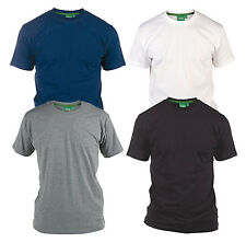 D555 New Mens Kingsize Crew Neck T-Shirt Cotton Summer Tee Top Big
