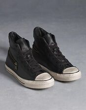 $170 CONVERSE by John VARVATOS All Star ZIP Scratched Leather High Top BLACK NIB