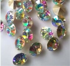 20/1000Pcs 8mm AB mixed Point back Rhinestone Crystal Glass Chatons SS38