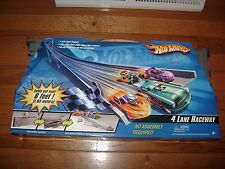 HOT WHEELS 4 LANE RACEWAY 6' FOLD OUT TRACK TRACK NEW IN PACKAGE