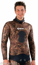 Mares 7mm Instinct Wetsuit (Jacket Only) - Freediving Scuba Diving - Brown Camo
