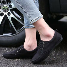 New Fashion Mens Faux Suede Lace Up Driving Moccasins Flat Gommino Shoes Sneaker