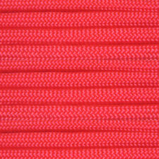 Barbie Pink 100 ft 550 Paracord 7 Strand Parachute Hot Bright Lipstick Coral