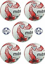5 x MITRE IMPEL TRAINING FOOTBALLS - WHITE/RED - SIZES 3,4 & 5