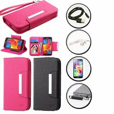 LEATHER COVER MAGNET WALLET STAND CASE SAMSUNG GALAXY CORE LTE