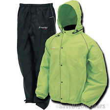 Frogg Toggs Hi Vis Green Road Toads Toad Motorcycle Rain gear suit S M L XL 2XL