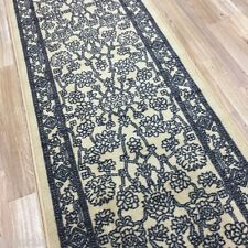 Custom Size Stair Hallway Runner Rug Rubber Back Traditional Ivory Persian #52