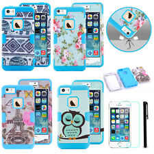 Hybrid Rubber Shock Proof Heavy Duty Case Cover for iPod iPhone Samsung Galaxy