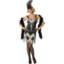 Flapper Costume Adult Roaring 20s Girl Halloween Fancy Dress