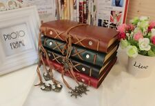 Retro Pirate Design Leather Cover Notebook Blank Diary Stationery Book Note - 6A